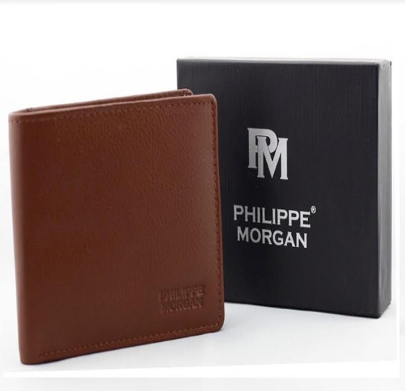 Philippe Morgan premium Leather Wallet PM006, Brown