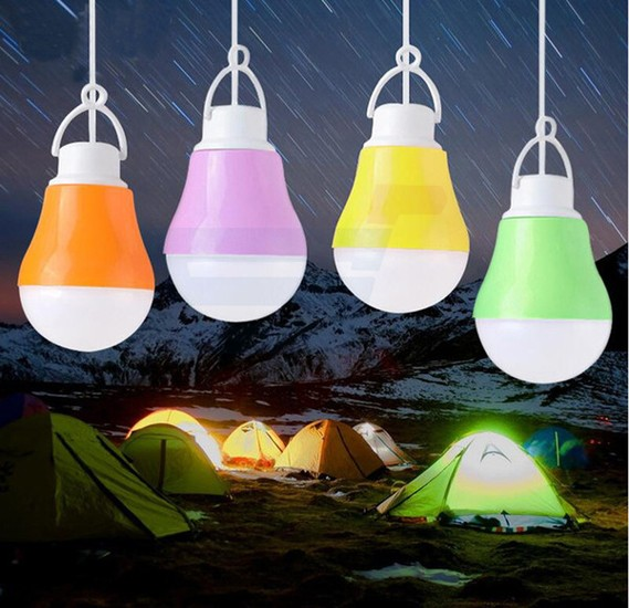 Universal Multi-Color USB Portable Camping LED Emergency Bulb Light DC 5V 5W Support Power Bank, Speakers, Laptops and Power Adapters