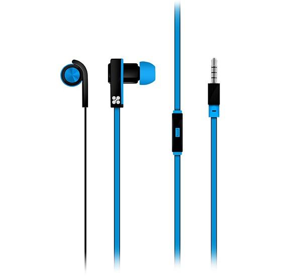 Promate Super Bass Stereo In-Ear Stereo Earphones with mic for Mobile Phone - Brazen.Blue