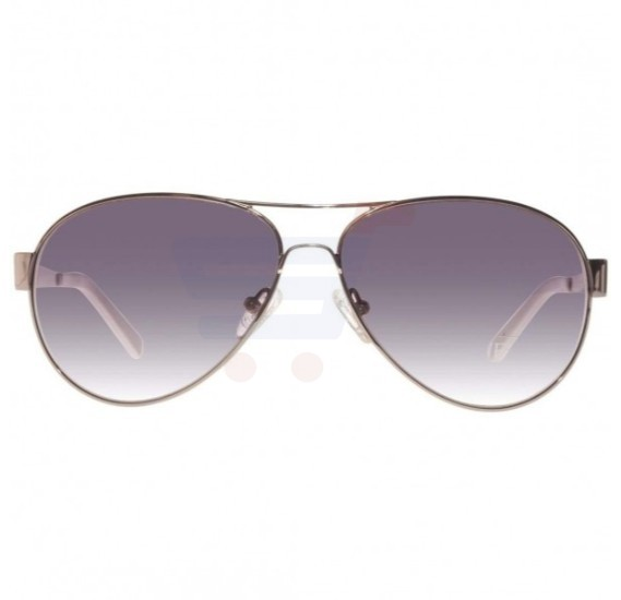 Guess Aviator Silver and White Frame & Grey Gradient Mirrored Sunglasses For Men - GU6824-24B