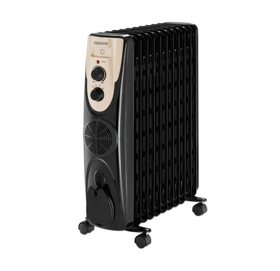 Black and Decker 2000 W 9 Fin Oil Radiator Heater, OR090D-B5