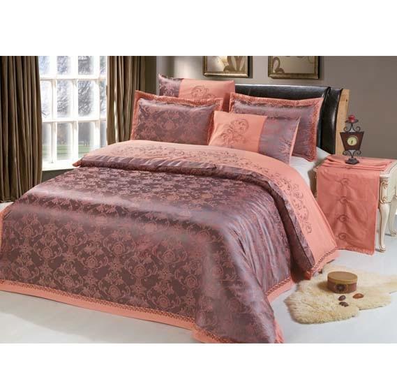 Senoures 100% Cotton Jacquard Quilt Cover 6Pcs Set King - SEJ-056