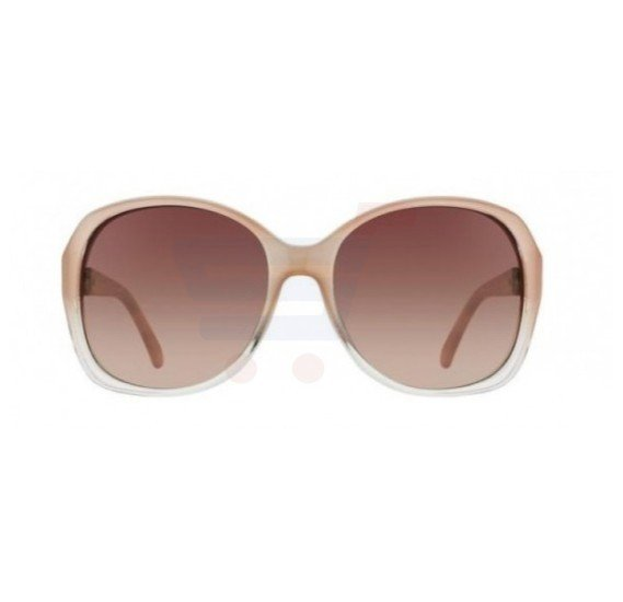 Guess Oval Pink Frame & Brown Gradient Mirrored Sunglasses For Woman - GU7280-PE34