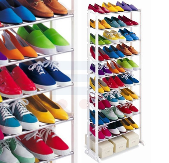 Amazing Shoe Rack Portable & Foldable, With 10 Layer