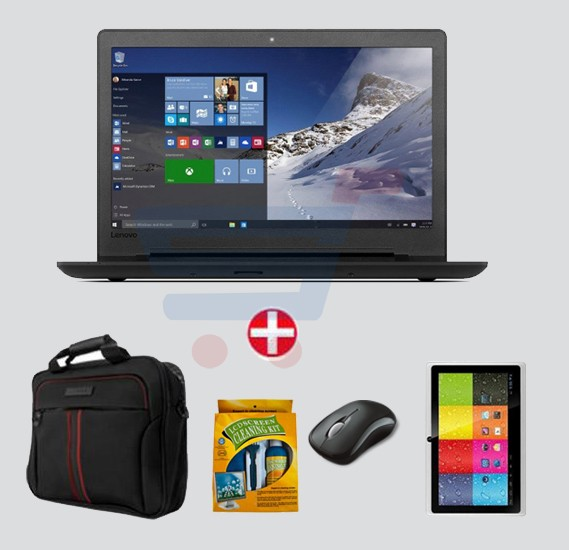 Bundle Offer Lenovo Ideapad 110 Laptop,Celeron,4GB RAM,500GB Storage,15.6 inch Display,DOS & Get Mouse+Laptop Bag + E Pad 7 inch Tablet +LCD Cleaning Kit FREE