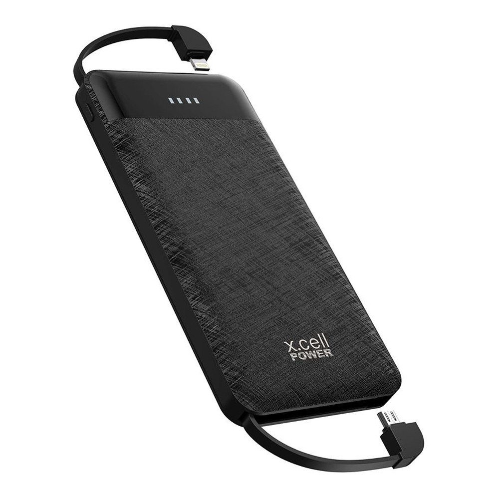 Xcell PC13000MLC Fast charging Power bank with 3 in 1 Cable Black