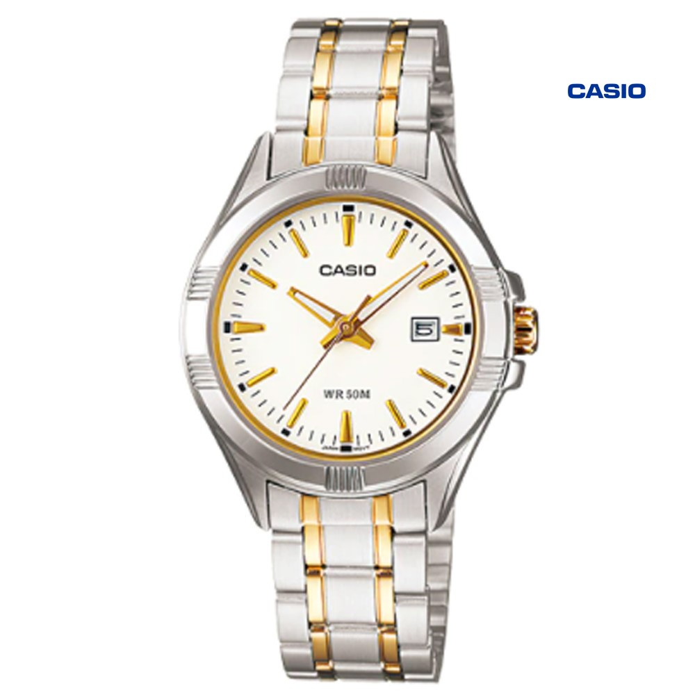 Casio LTP 1308SG 7AVDF Women Analog Dial Stainless Steel Band Watch