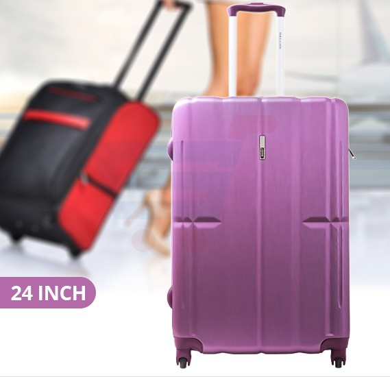 Para John 24 Inch Trolley Luggage, Purple- PJTR3070