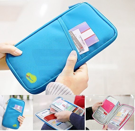 T&F The Plane Travel Passport Package Korean Multi-Function Hand Package Storage Card Clip