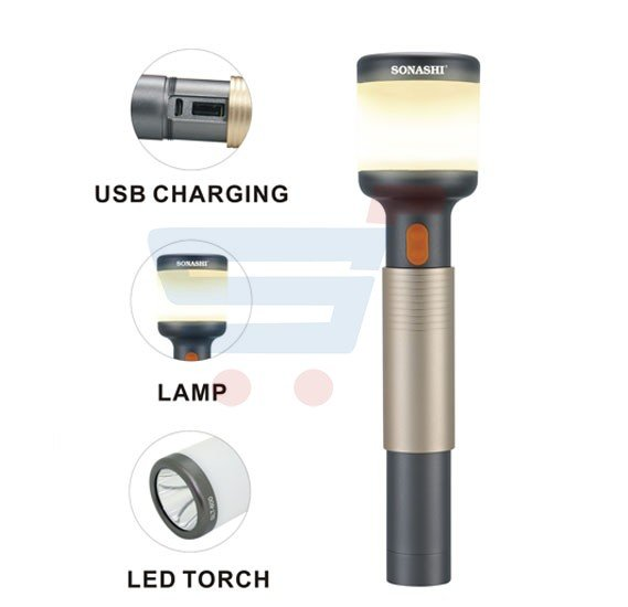 Sonashi 2 In 1 Rechargeable Led Torch & Lamp, SLT-601