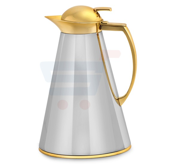 RoyalFord Stainless Steel Golden Cone Arabic Flask 1LTR - RF8577