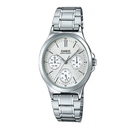 Casio Stainless Steel Strap Watch For Mens, LTP-V300D-7AUDF