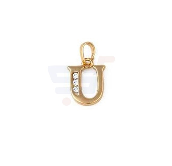 Xuping Necklace Pendant Gold Plated Letter  U
