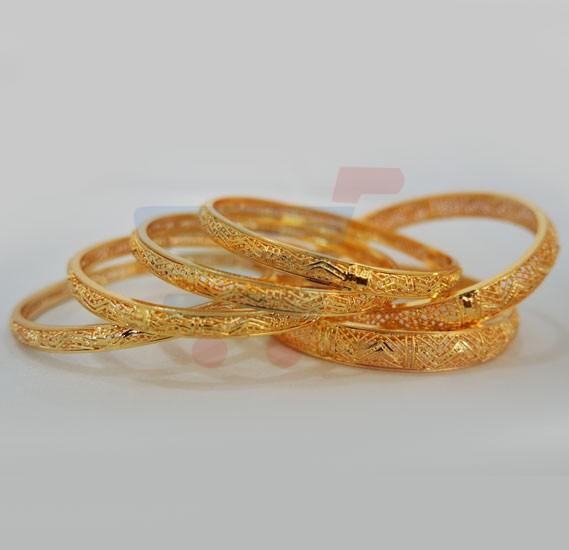 Buy Nathasha Arts 22K Gold Plated Handmade Design Bangles 6 Piece Set Online Dubai UAE | OurShopee.com 2796 & Buy Nathasha Arts 22K Gold Plated Handmade Design Bangles 6 Piece ...