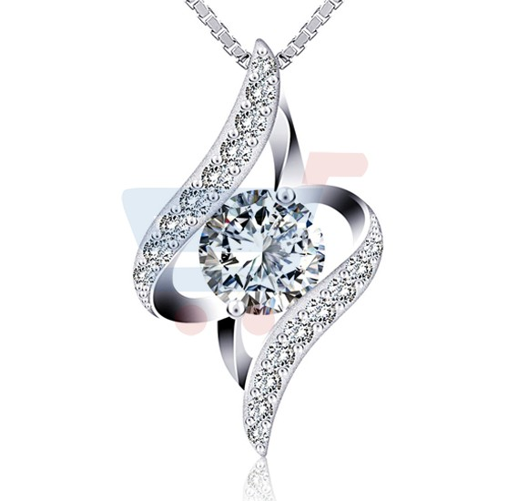 J.Rosee Swarovski Elements 925 Sterling Silver Necklace JR-396