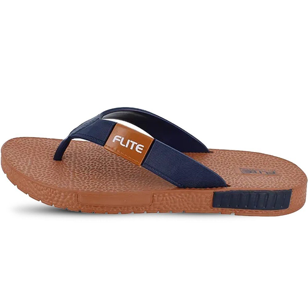 Flite Gents Homeuse Slippers, FL-330, Tan Navy, Size 43