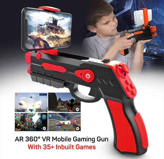 AR Blaster Augmented Reality 360° VR Mobile Gaming device with 35+ Inbuilt Games