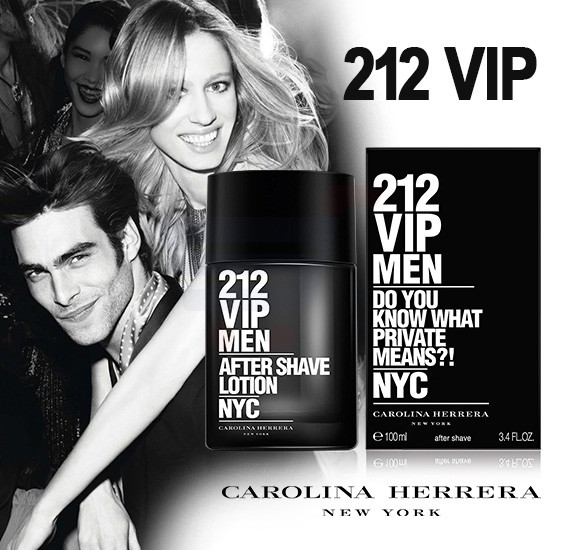 Carolina Herrera 212 Vip Men EDT Plus 212 VIP with Men Aftershave Lotion 100ml