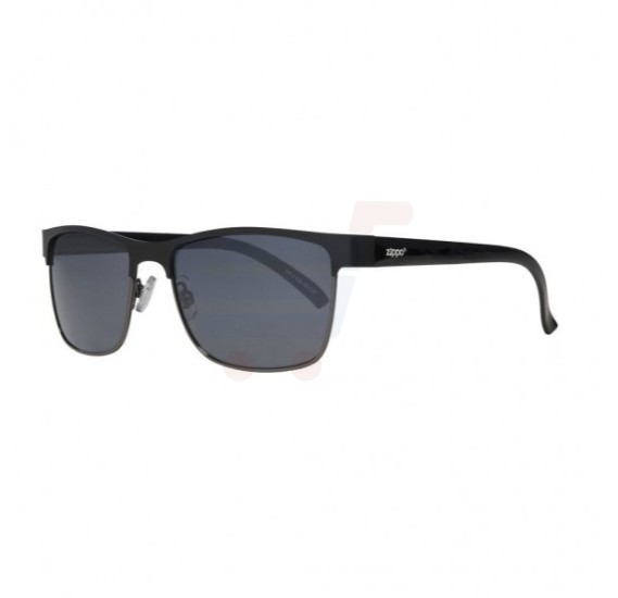 Zippo Semi-Rimless Sunglasses Black - OB12-01