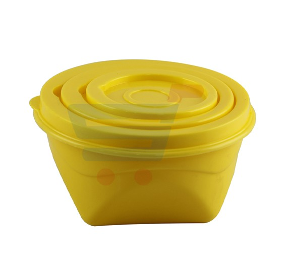 Plastic Food Storage Container Set of 3 piece - 7877