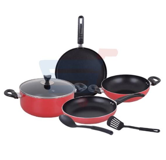 Royalford 7Pcs Aluminum Nonstick Cookware Set - RF7788