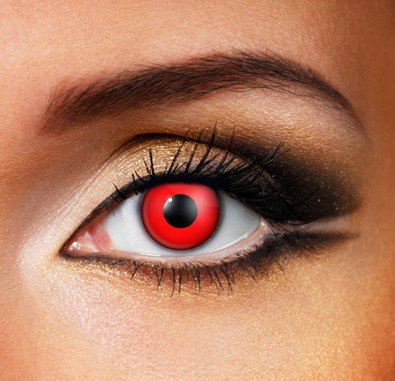 Bloody Red Halloween Eye Contact Lense Made In The Uk