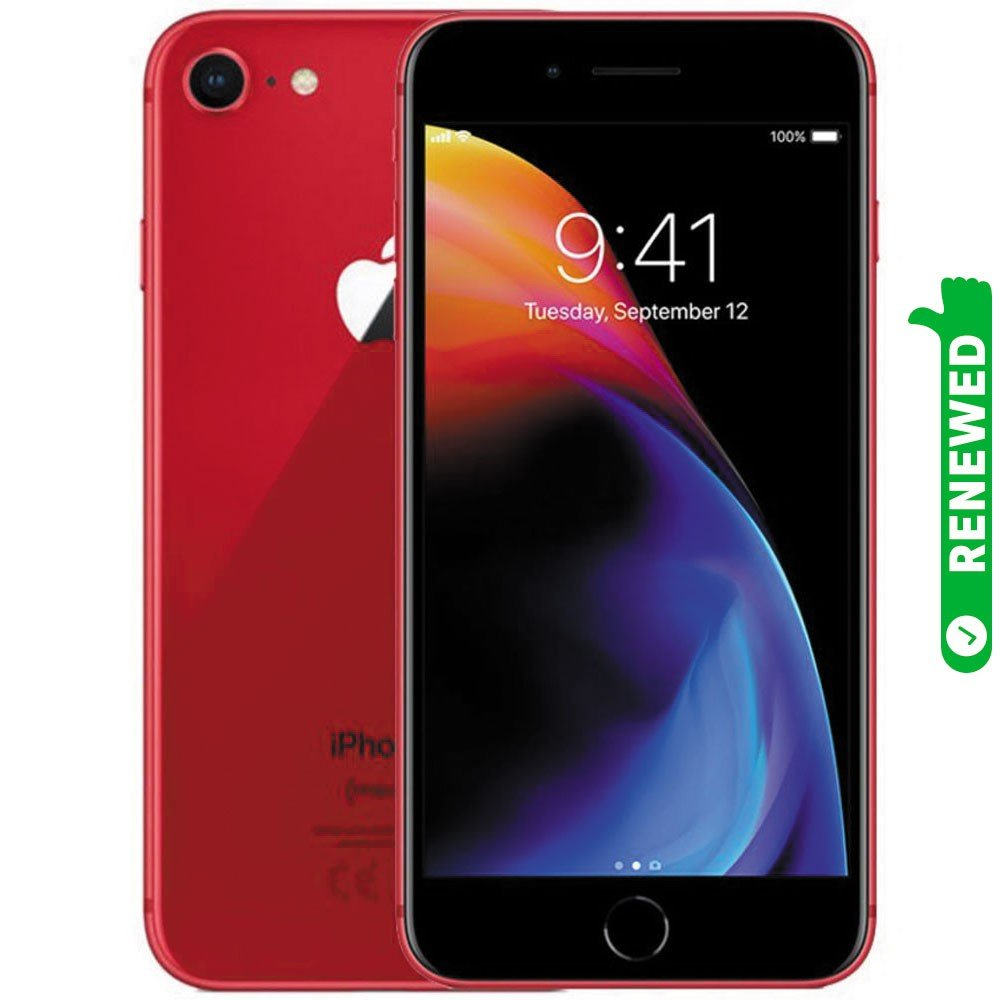 Apple iPhone 8 With FaceTime (Product)Red 64GB 4G LTE Renewed- S