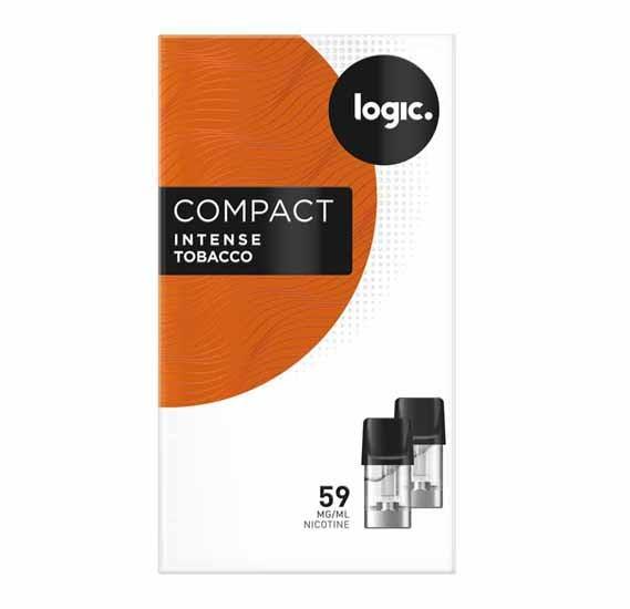 Logic Compact Vape Refill - Intense Tobacco 58 MG/ML Nicotine