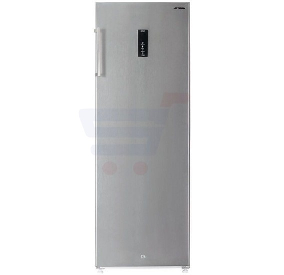 Aftron Upright Verticle Freezer Silver 320L - AFVF320SSF
