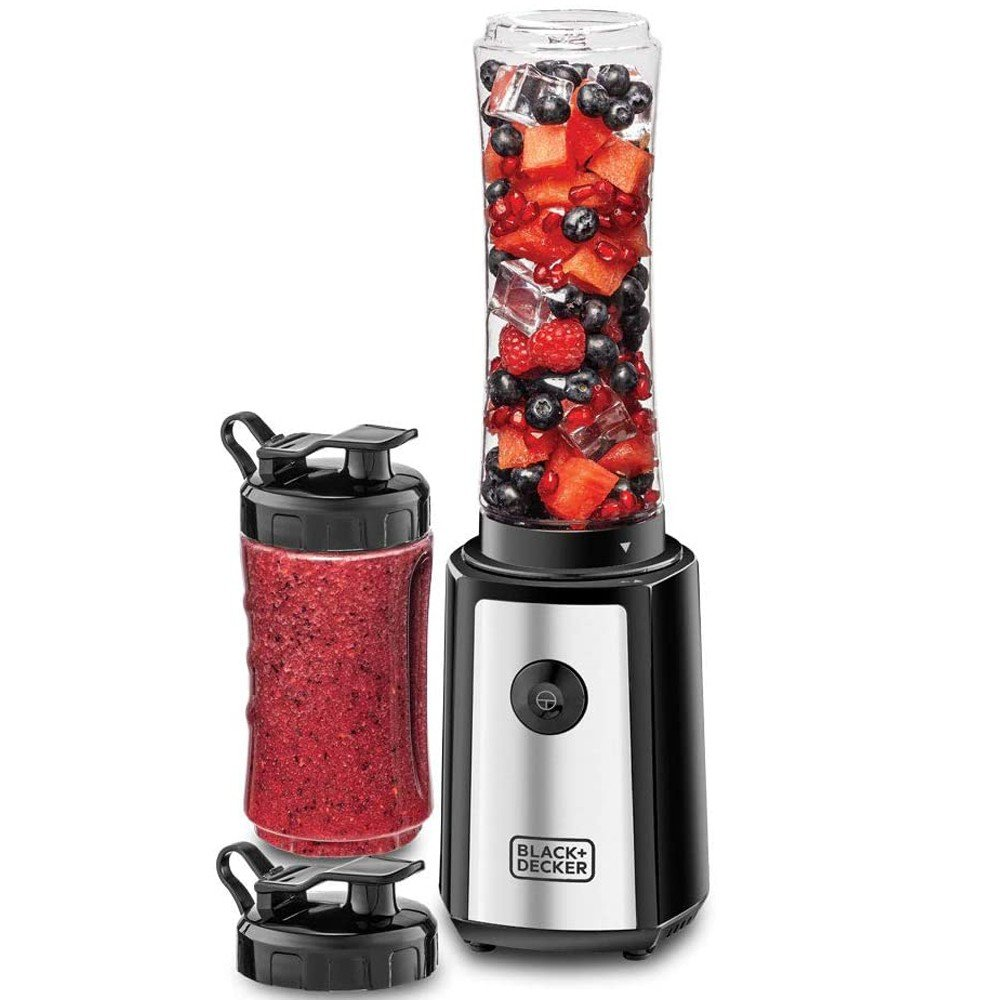 Black and Decker SBX300-B5 Electric Blender And Smoothie Maker 300W, Black And Silver