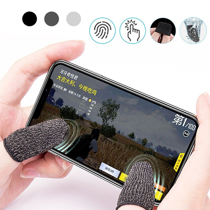 Gaming Finger Sleeve Touchscreen Finger Gloves Conductive Fiber Cap Anti-Sweat Breathable Touch and Sensitive for Mobile Phone Games