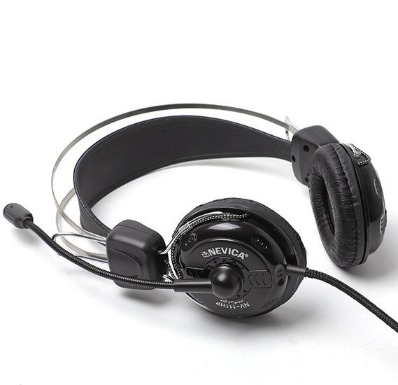 Nevica Head Phones Full Bass, NV-111 Best for Skype,Gaming,Songs