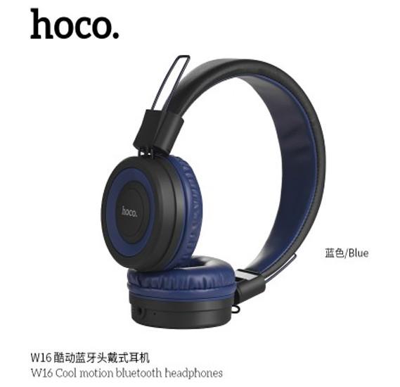 Hoco Cool motion bluetooth headphones, Blue, W16