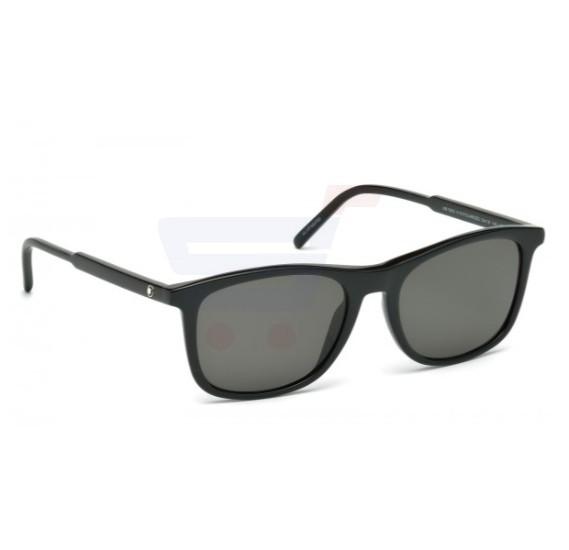Mont Blanc wayfarer Black Frame & Black Mirrored Sunglasses For Men - MB593S-01D