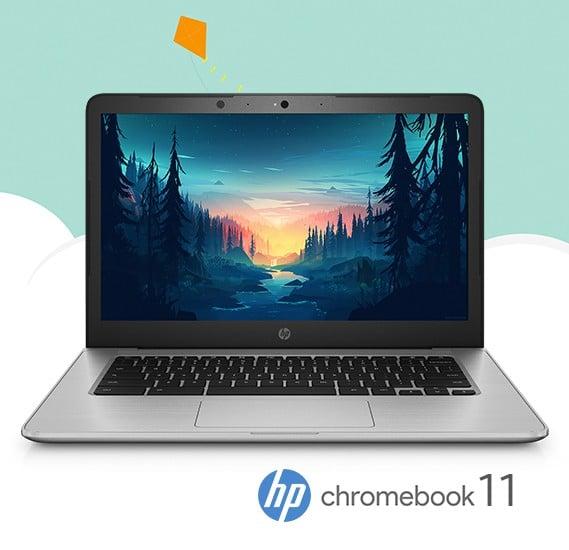 HP Chromebook 11 Intel Celeron Processor 4GB RAM 16GB eMMC 11.6 Inch LED Display OS Google Chrome - Black - Refurbished