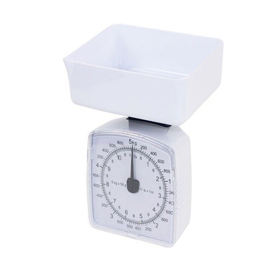 Geepas GKS46512 Analog Kitchen Scale - White