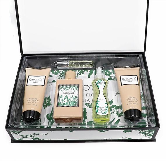 Carlotta Growing Flower Aqua Gift Set with Perfume, Bodyspray, Shower Gel and Body Lotion, 83529