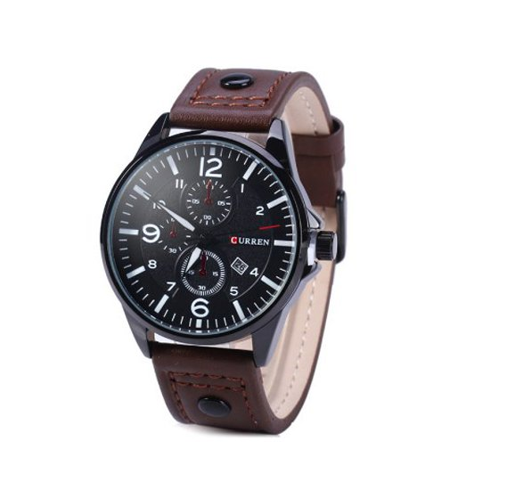 Curren 8164 Leather Strap Mens Watch
