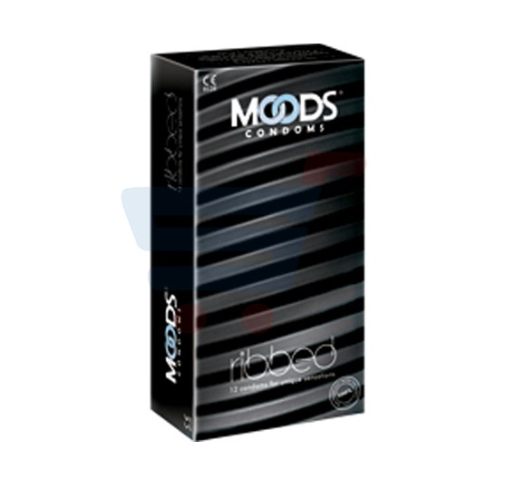 Moods Condom Ribbed Pack Of 12