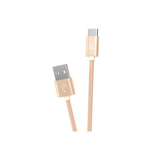 Hoco Type-C knitted Charging cable ,X2