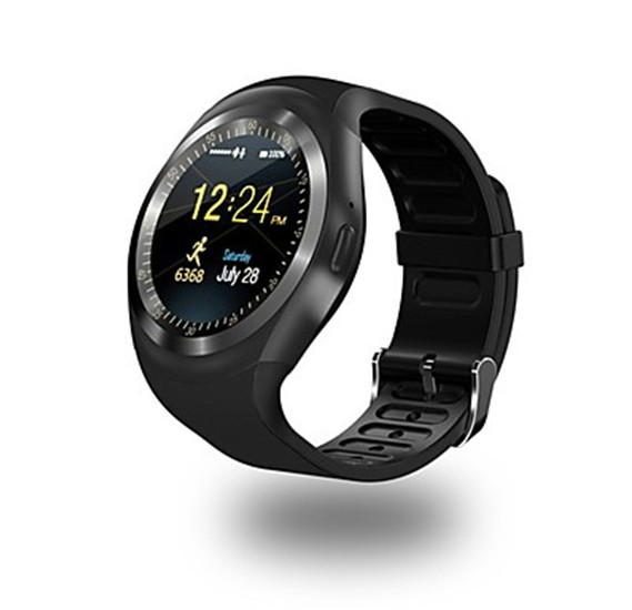 KUPENG Y1 Smartwatch Black - Bluetooth, Sports Waterproof, Touch Screen, Calories Burned, Long Standby ,Pedometer, Call Reminder, Activity Tracker, Find My Device / Hands-Free Calls, Y1