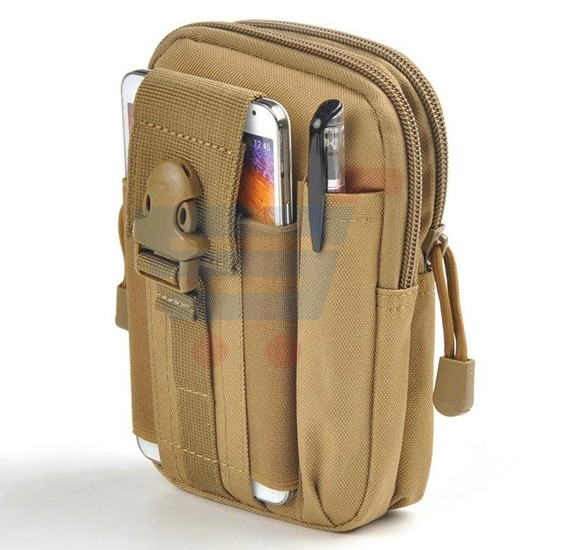 Water Resistant Outdoor Hiking Traveling Waist Pack Bag - Beige