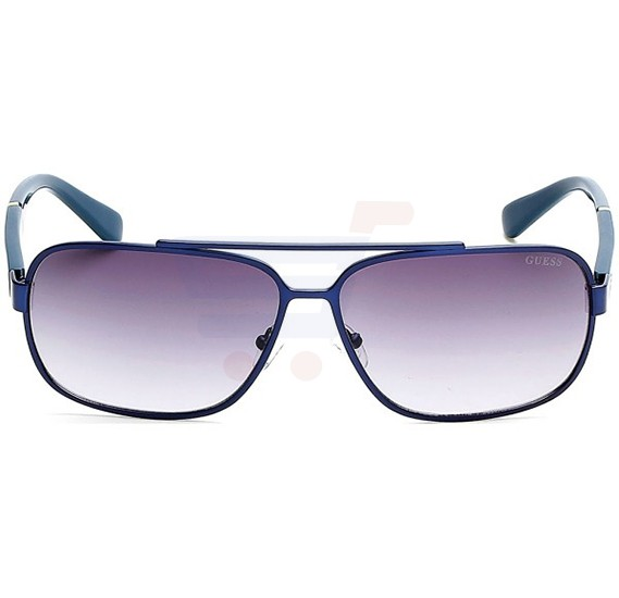 Guess Rectangular Blue/Green Frame & Brown Gradient Mirrored Sunglasses For Unisex - GU6868-91B
