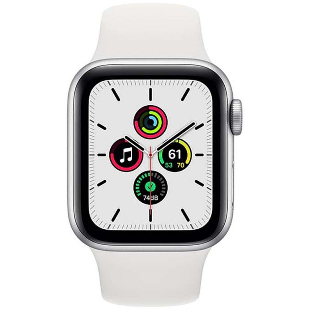 Apple Watch SE-40mm GPS Silver Aluminium Case with White Sport Band