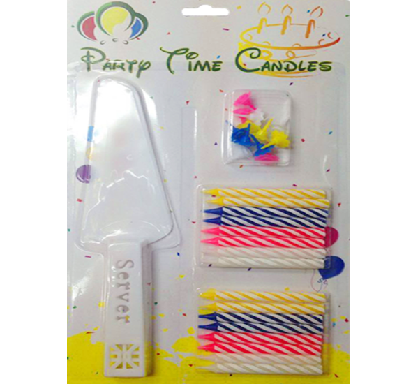 Party Time Candle with Knife F16