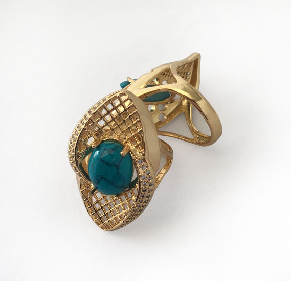 Buy Ayisha Jewellery 22K Gold Plated La s Luxury Rings with