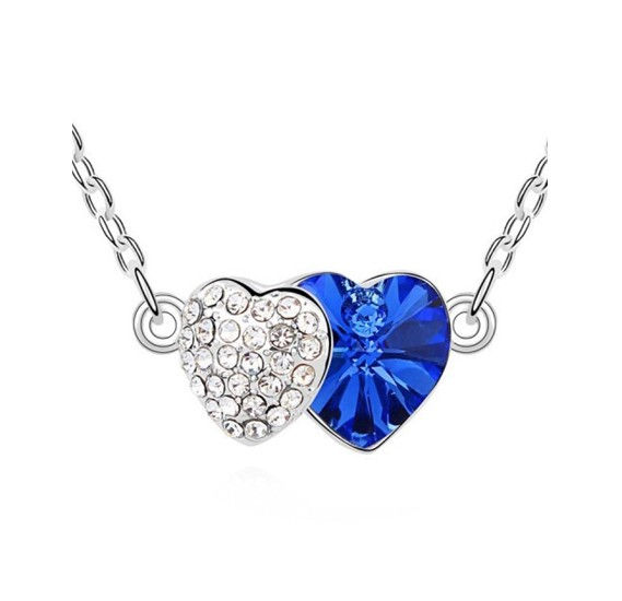 926bb96511 Buy Swarovski Elements 18K White Gold Plated Necklace encrusted with Navy  Blue Swarovski Crystals Online Dubai, UAE | OurShopee.com 55737