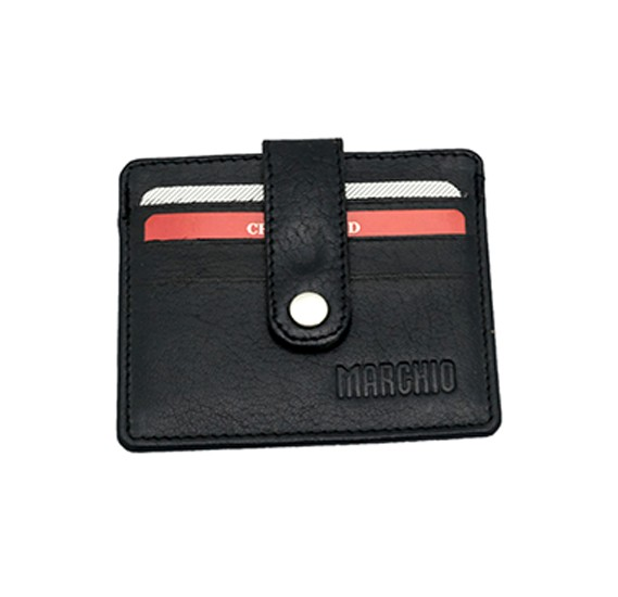 Marchio Personal Leather Wallet For Men Black colour 7014-001