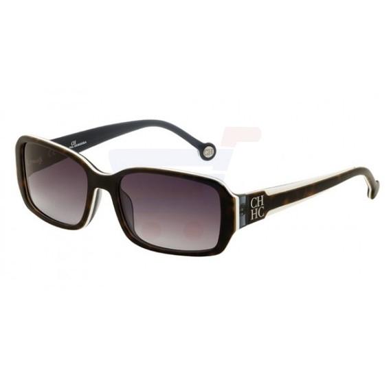 Carolina Herrera Round Beige Frame & Gradent Brown Mirrored Sunglasses For Women - SHE540-02A1