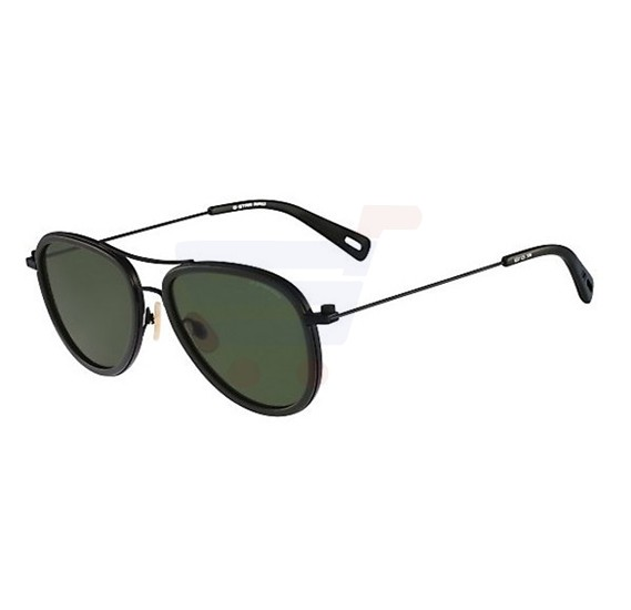 G-Star Aviator Black Frame & Green Gradient Mirrored Sunglasses For Unisex - GS112S-308